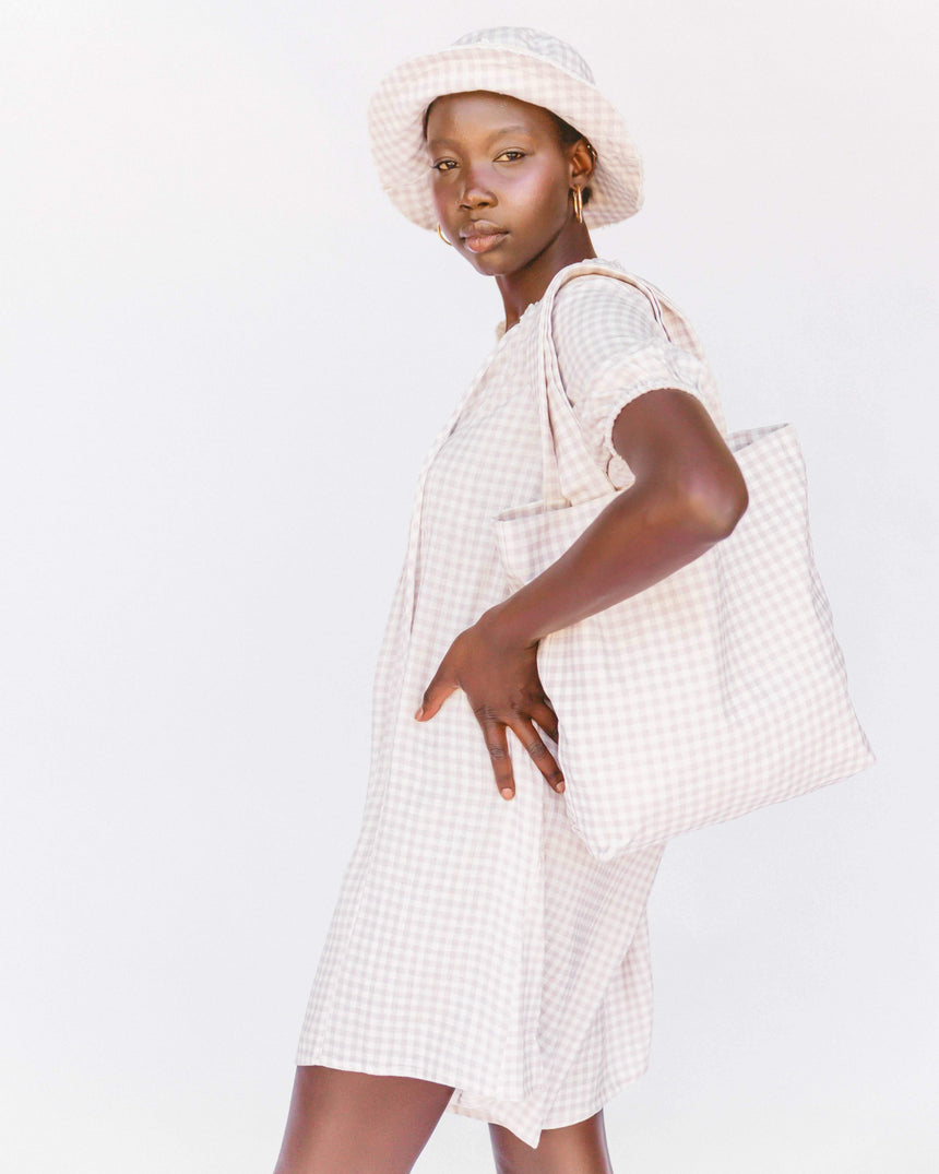 Cherie Bag // Lilac Gingham Hat The Lullaby Club