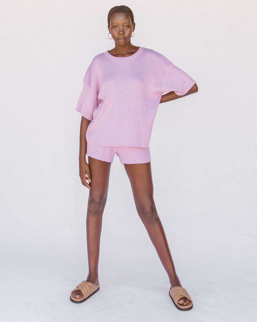 Alex Knit Shorts // Periwinkle Shorts The Lullaby Club