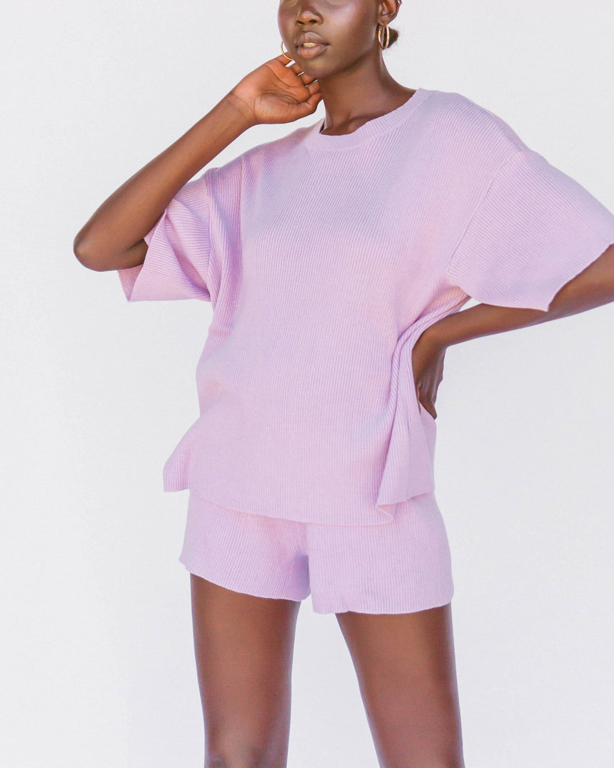 Alex Knit Tee // Periwinkle T-Shirt The Lullaby Club