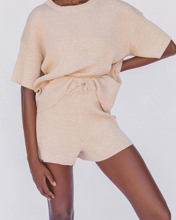 Alex Knit Shorts // Sand - The Lullaby Club