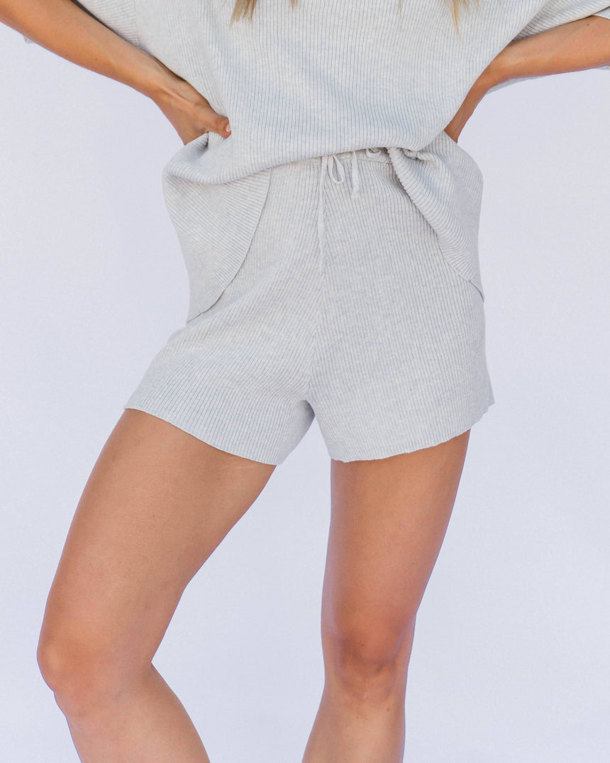 Alex Knit Shorts // Blue-Marle Shorts The Lullaby Club