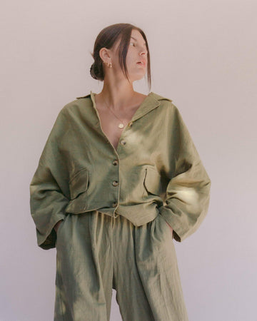 Women's Lounge Shirt // Olive - The Lullaby Club