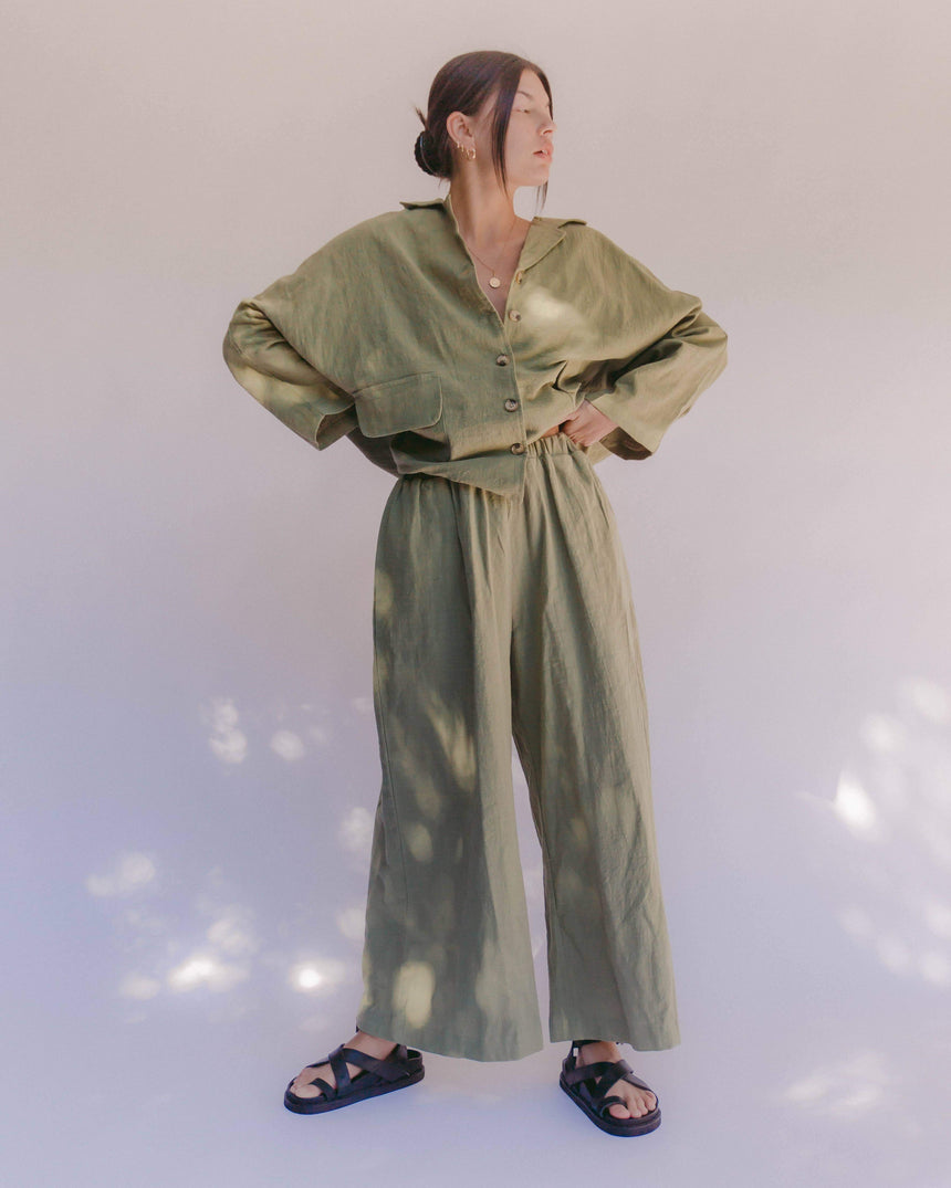 Women's Lounge Pants // Olive - The Lullaby Club