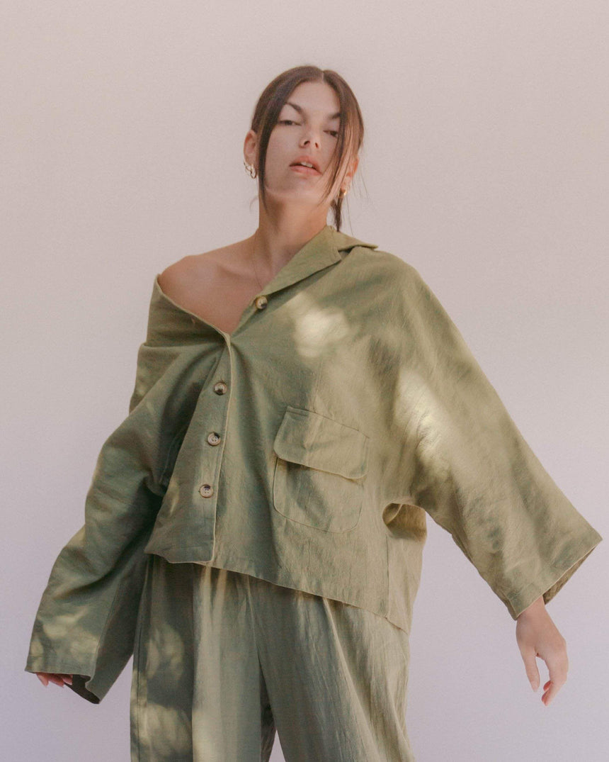 Women's Lounge Shirt // Olive