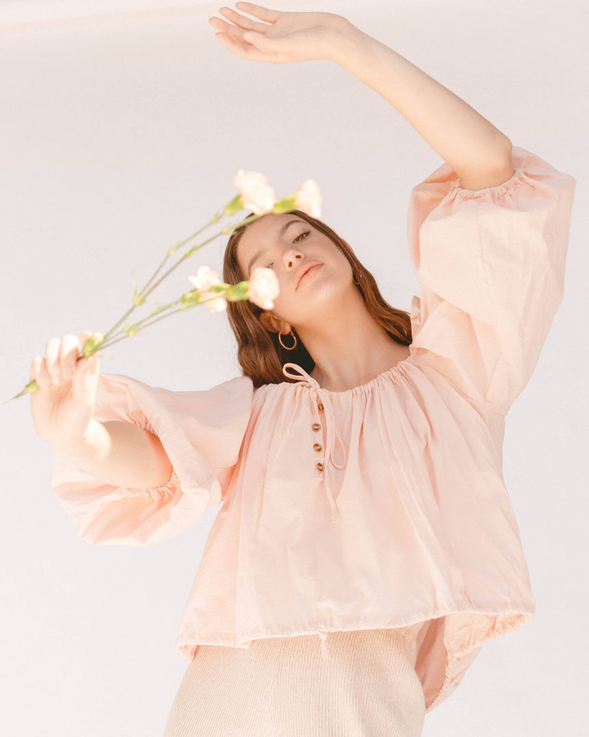 Kaira Top // Peach Pink Top The Lullaby Club