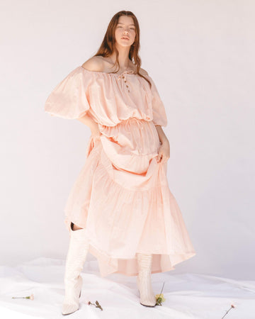 Kaira Skirt // Peach Pink - The Lullaby Club