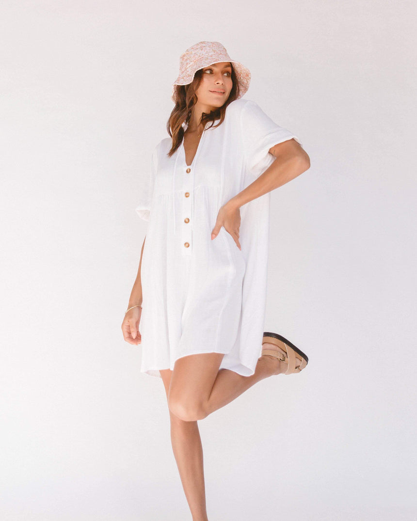 Cody Playsuit // White Playsuit The Lullaby Club