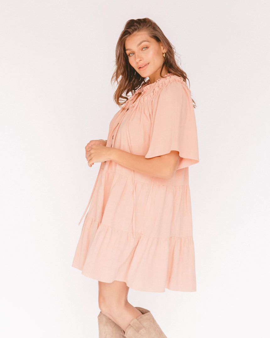 Avalon Smock Dress // Blue Gingham - The Lullaby Club