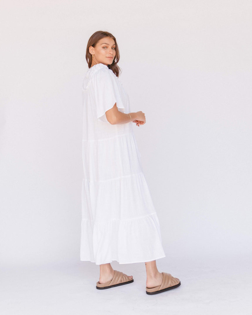 Nikita Maxi Dress // White