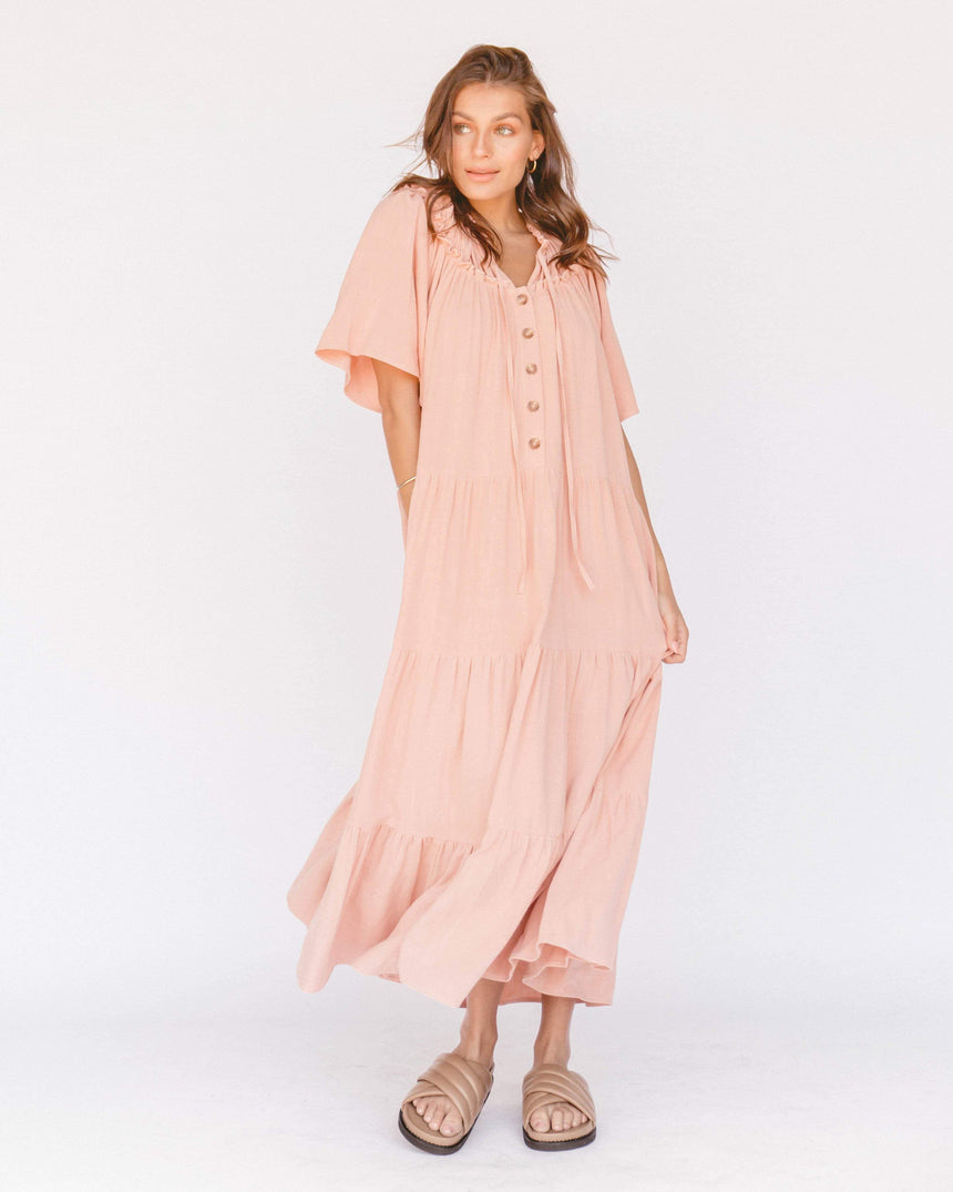 Nikita Maxi Dress // Rose - The Lullaby Club