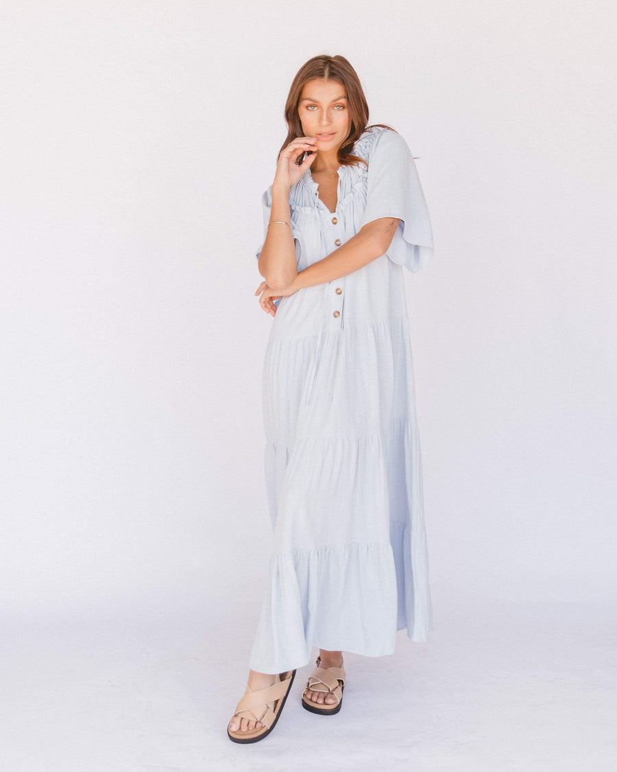 Nikita Maxi Dress // Powder Blue - The Lullaby Club