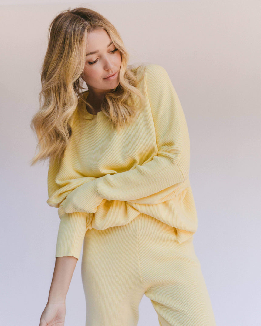 Alex Knit Sweater // Lemon - The Lullaby Club