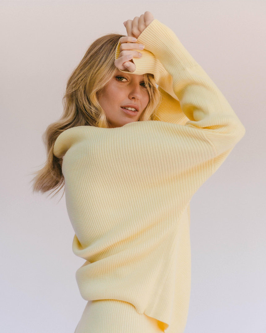 Alex Knit Sweater // Sand Sweater The Lullaby Club