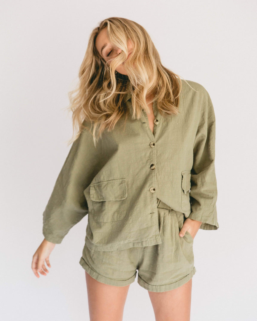 (PRE-ORDER) Women's Lounge Set // Olive - The Lullaby Club