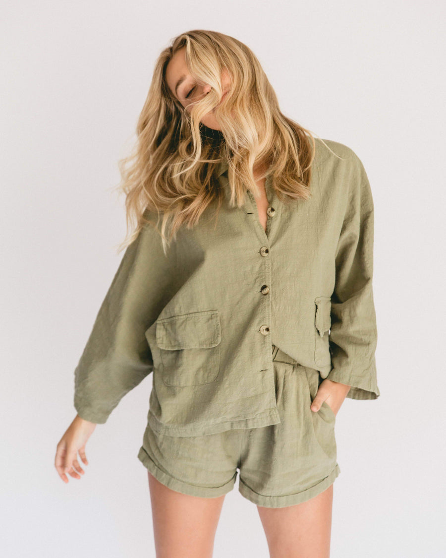 Women's Lounge Set // Olive - The Lullaby Club