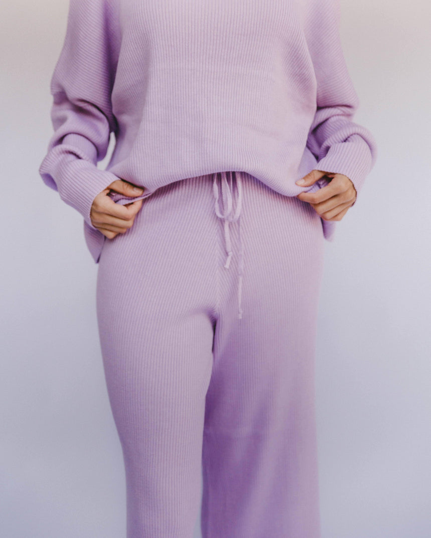 Alex Knit Pants // Periwinkle - The Lullaby Club