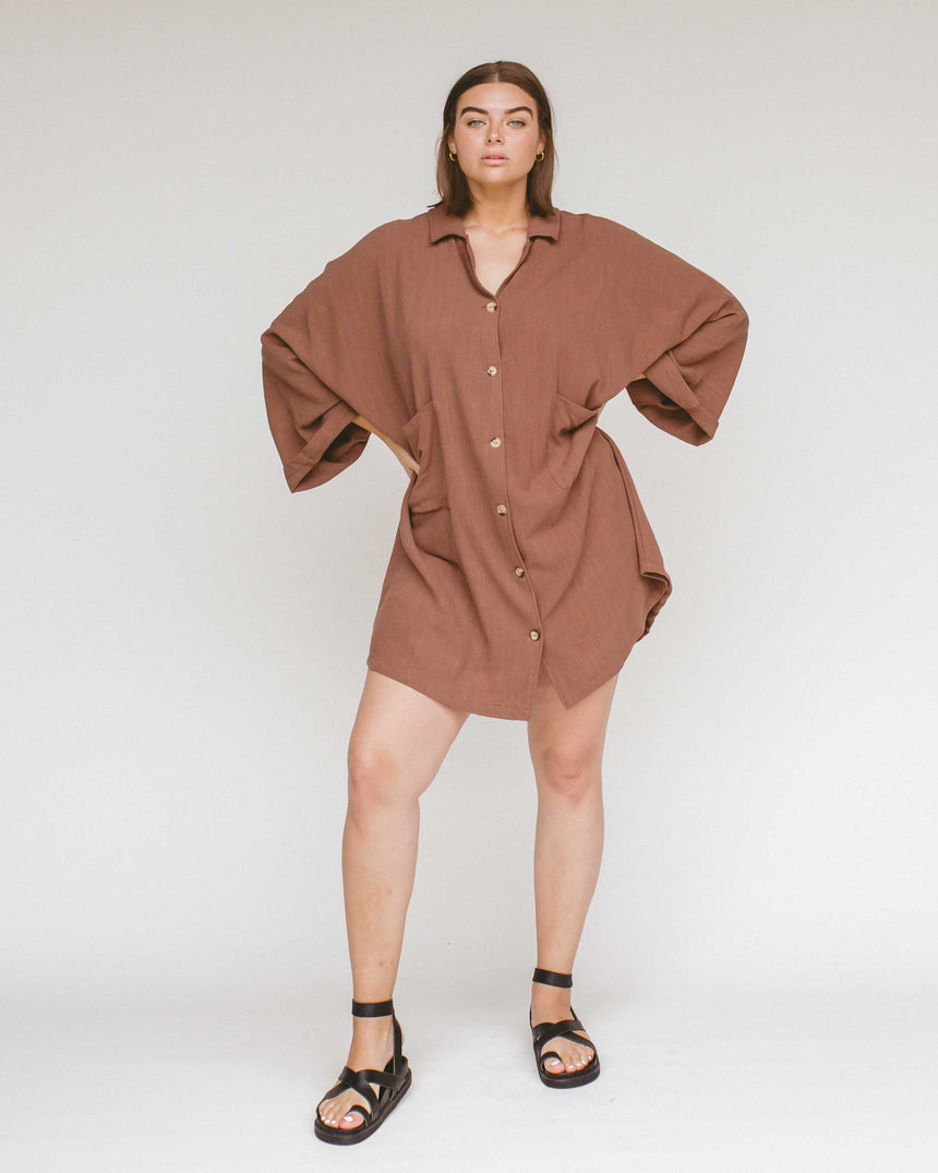 Women's Lounge Dress // Chocolate - The Lullaby Club