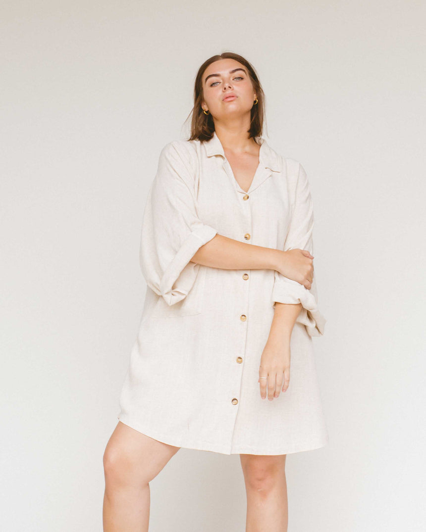 Women's Lounge Dress // Oat - The Lullaby Club