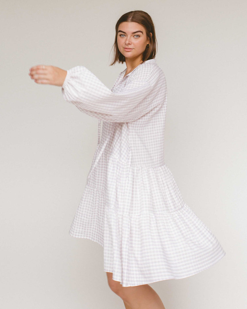 Avalon Smock Dress // Lilac Gingham - The Lullaby Club