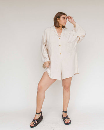 Women's Lounge Playsuit // Oat - The Lullaby Club