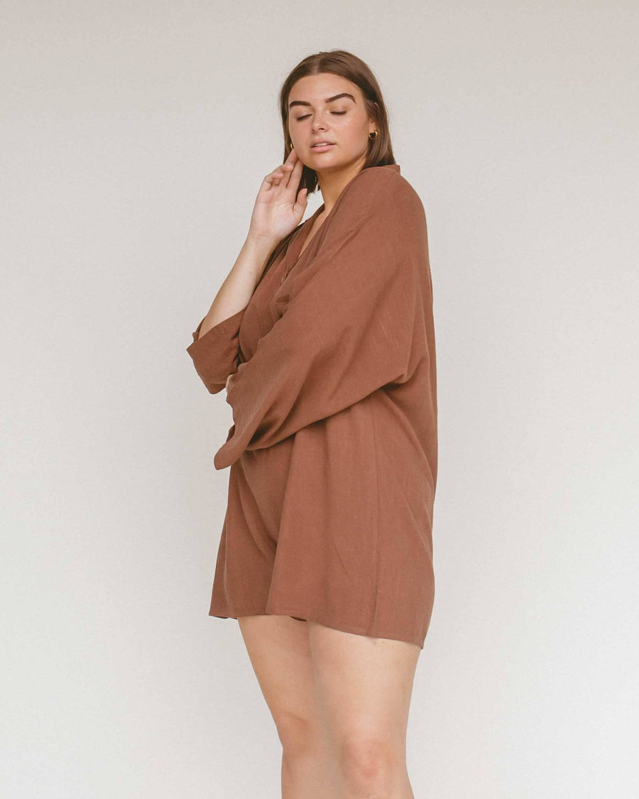 Women's Lounge Playsuit // Chocolate - The Lullaby Club