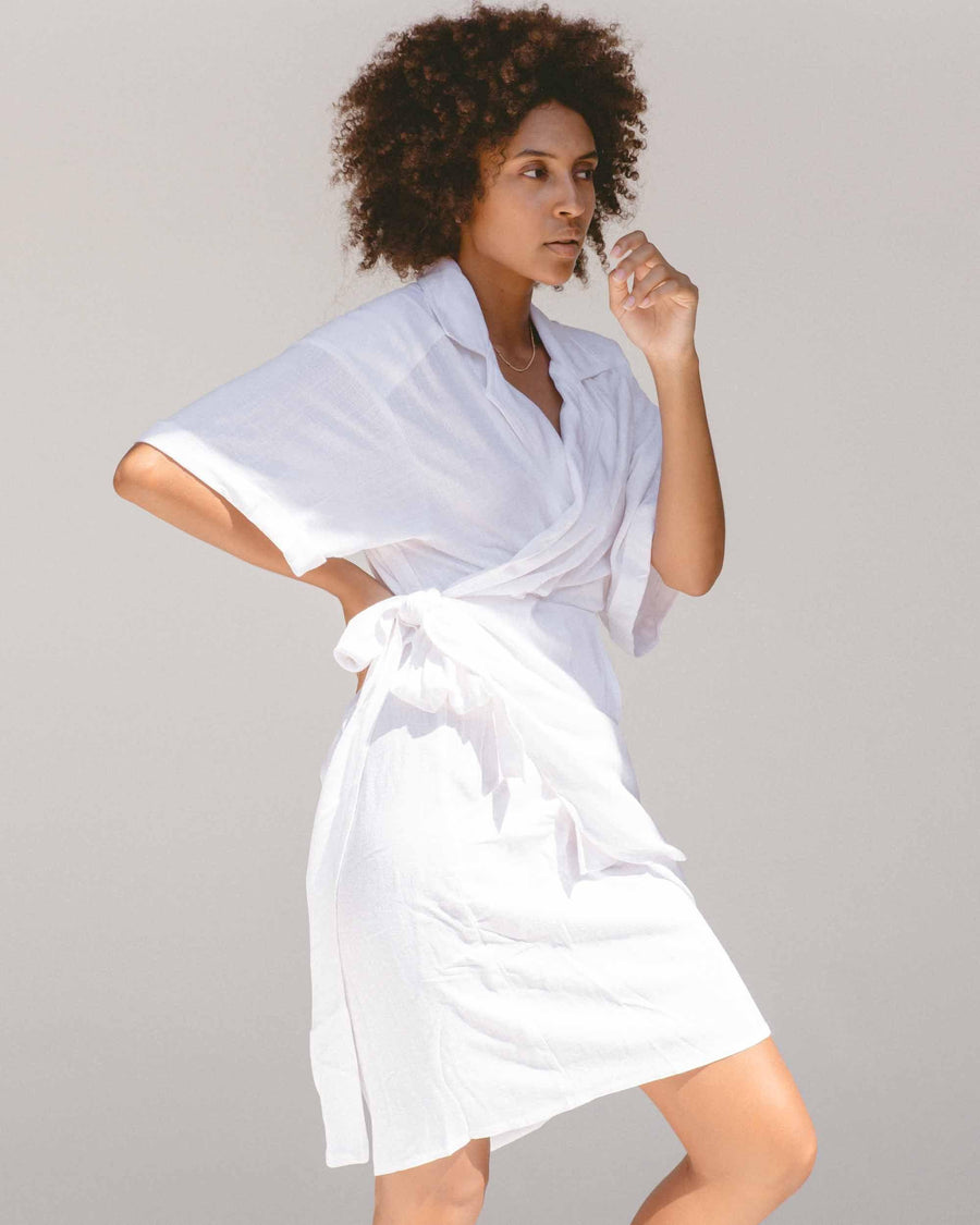 Natalie Wrap Dress // White
