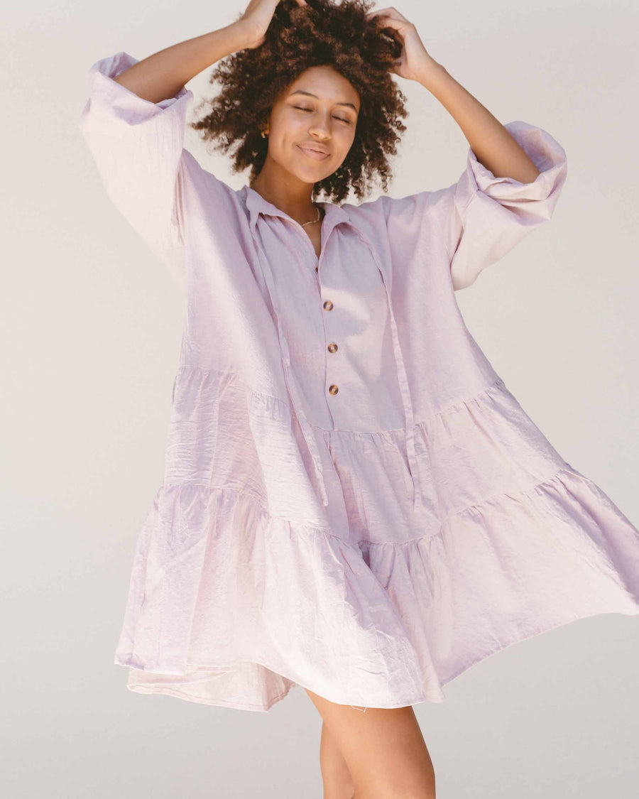 Avalon Smock Dress // Lilac