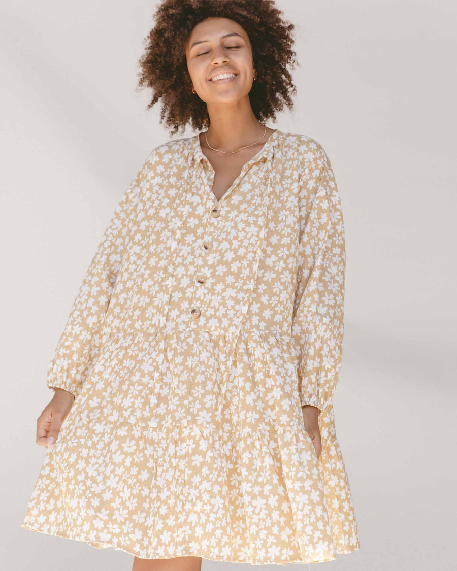 Avalon Smock Dress // Caramel Daisies