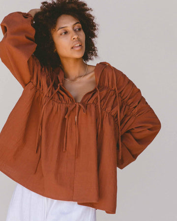 Penny Smock Blouse // Rust