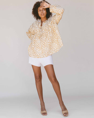 Penny Smock Blouse // Caramel Daisies