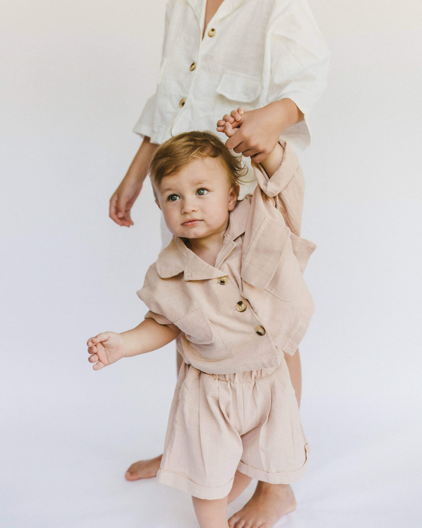 Mini Avalon Smock Dress // Caramel Gingham - The Lullaby Club