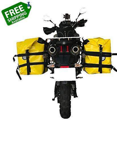 2x40 Liter Dry Bag Waterproof Motorcycle Panniers Luggage