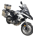 Univesal Motorcycle Side Case Panniers 40Lt + 40Lt Gray