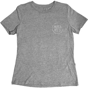 PACIFIC & MOSS LADIES TEE - FRONT LOGO