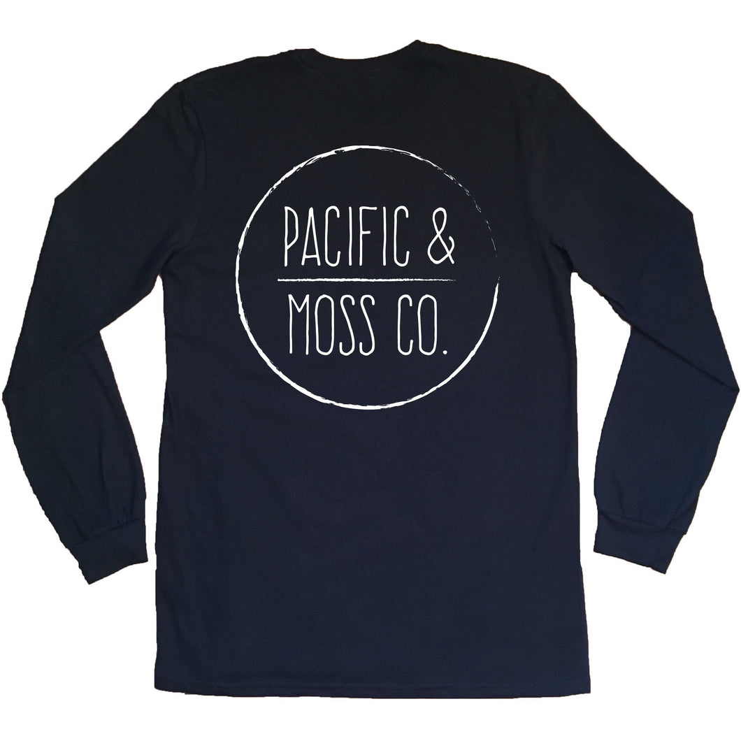 PACIFIC & MOSS L/S - FRONT & BACK LOGO