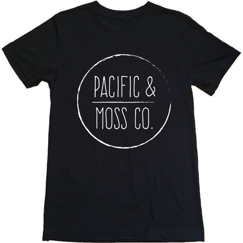 PACIFIC & MOSS TEE - CENTRE FRONT LOGO