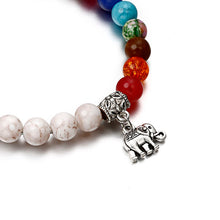 Load image into Gallery viewer, Womens 7 Chakra Healing Beads Reiki Bracelet
