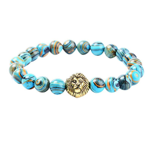 Fashion Lion Head Bracelet Beads