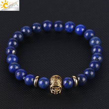 Load image into Gallery viewer, Blue Lapis Lion Bracelet