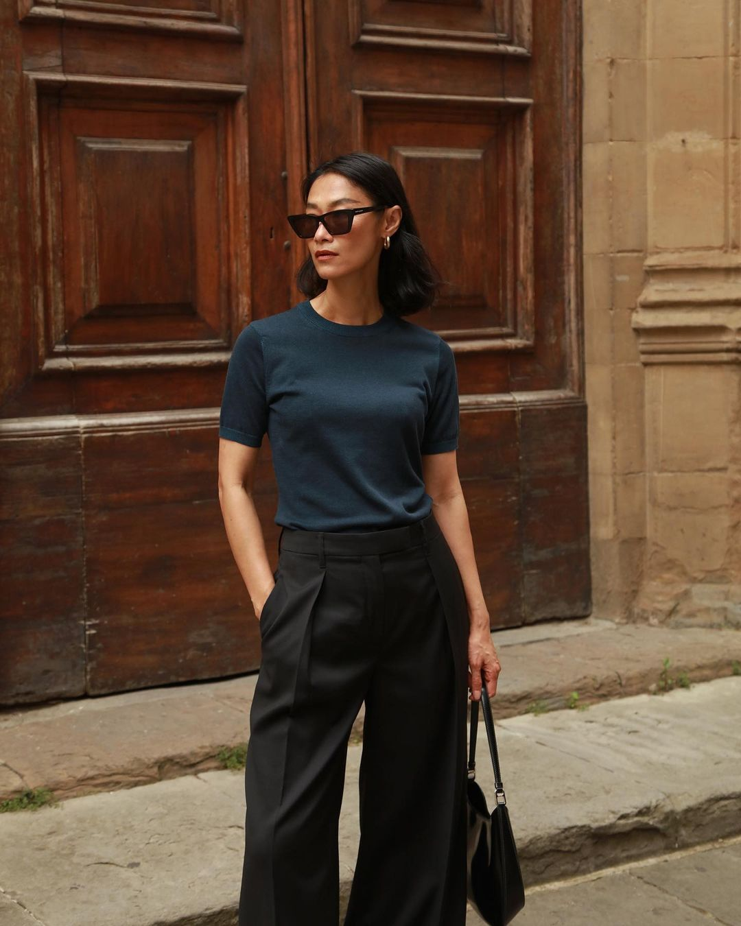 @ps.shadesofmylife in Soft Plated Knit + Single-Pleat Trouser from The Organic Collection.