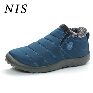 d11caeac66804 NIS Waterproof Warm Plush Old Man Ankle Boots Men Shoes Winter Snow Boots  Lithe High Top
