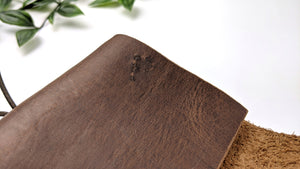 Nano Natural Edged Travelers Notebook Cover