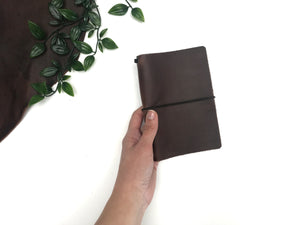 Pocket Size Travellers Notebook Cover Made From Rustic, Full Grain Leather