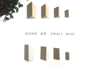 Mini/Small/A8 and Nano Notebooks/Inserts - Set of 4