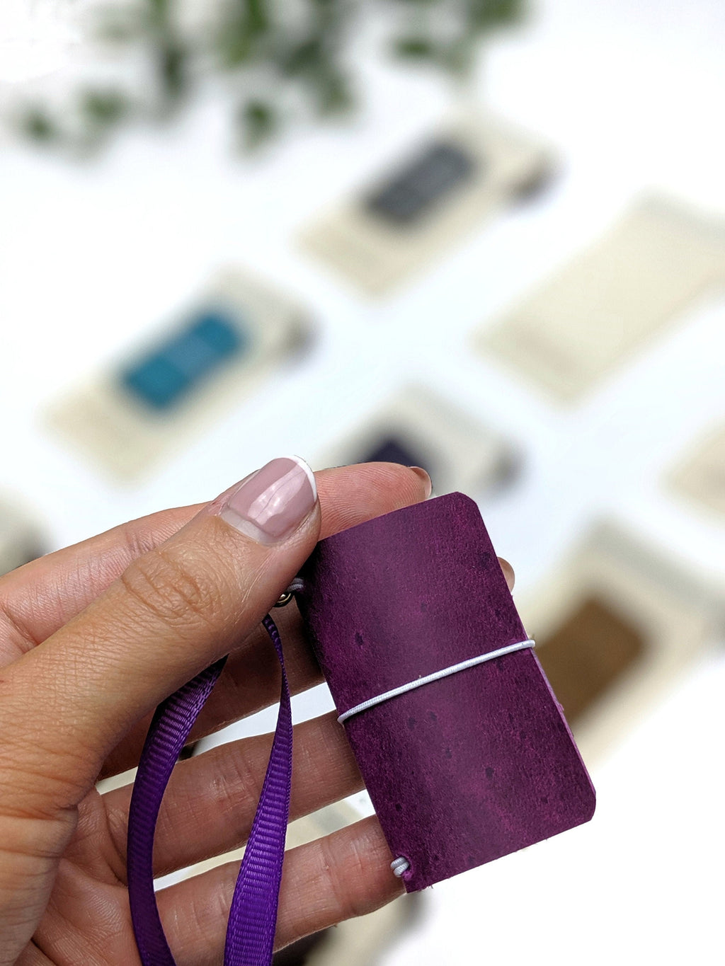 Violet Mini Journal | Mini Travelers Notebook for Journaling or Painting