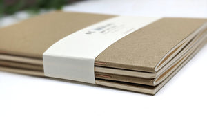 Kraft Cover Notebooks - Set of 4 | Travelers Notebook Inserts | All Sizes Available