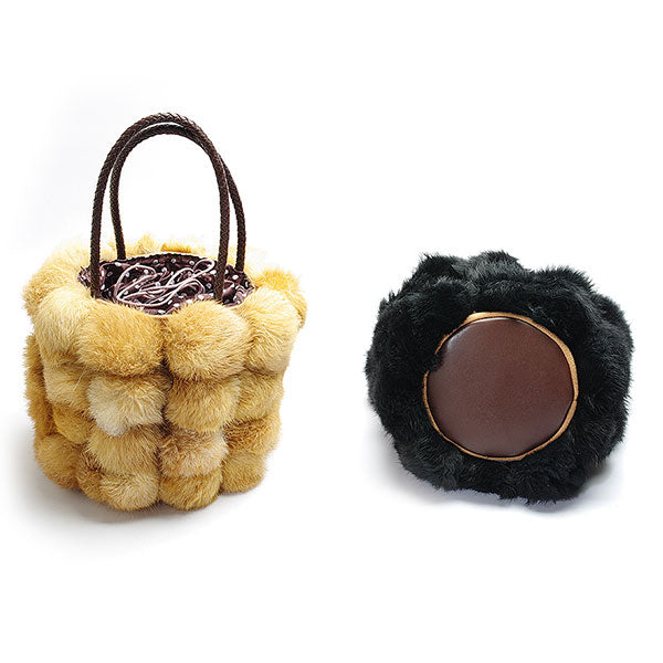 Winter Luxury Fur Ball Handbag