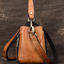 New Handmade Brush-off Leather Multifunction Leisure Portable Shoulder Bag-Brown