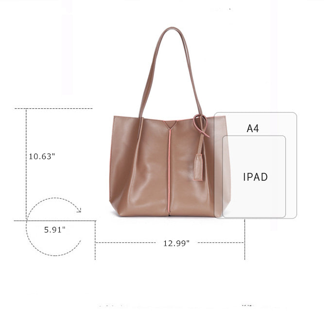 【NEW】Smooth Lines Classic Tote Bag-Brown