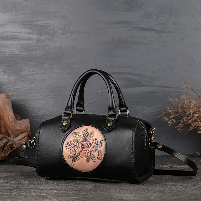 Retro Handmade Genuine Leather  Bag-Black